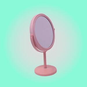 Mumuso Chile espejo de mesa rosado